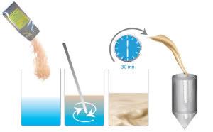 Reidratação da levedura seca.
